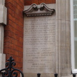 Old Westminster Library - foundation stone
