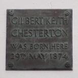 G. K. Chesterton - birth