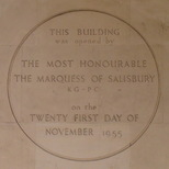 Marquess of Salisbury opens building