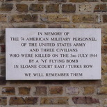 Sloane Court East bomb - wall plaque