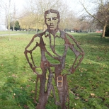 Walter Tull - steel statue