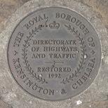 Chelsea Embankment memorial - restored