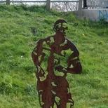 Ledley King - steel statue