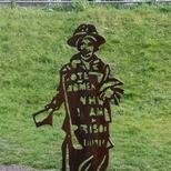 Sylvia Pankhurst - steel statue