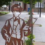 Samuel Coleridge-Taylor - steel statue