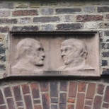 Cheyne Walk heads - Carlyle and Mazzini