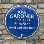 Ava Gardner - plaque