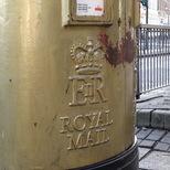 Gold post box - Stratford