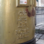 Gold post box - Stratford