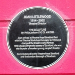 Joan Littlewood - Stratford plaque