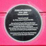 Joan Littlewood - Stratford plaque