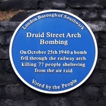 Druid Street arch WW2 bomb 1