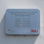 Dudgeon's Wharf explosion - oblong plaque