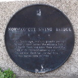 Norway cut swing bridge