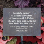Hammersmith & Fulham WW1 flowerbed