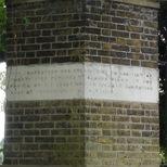 St Nicholas churchyard extension - north gate, east pier