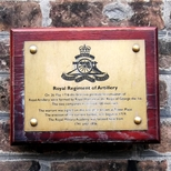 Royal Regiment of Artillery - replacement plaque