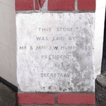 Kingston Spiritualist Church - Foundation Stone 2 - Humphries