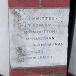 Kingston Spiritualist Church - Foundation Stone 3 - Committee