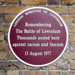 Battle of Lewisham - Plaque