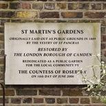 St Martin's Gardens - restored