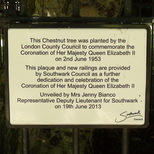 Coronation tree - Southwark Park
