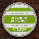 Alan Cartwright - plaque