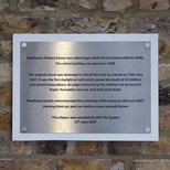 Upper North Street School - plaque 2
