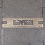 Hackney Empire pavement plaque - Sir Oswald Stoll