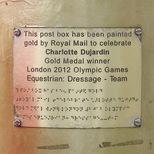 Charlotte Dujardin gold post box