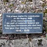 Lewisham Hospital war memorial