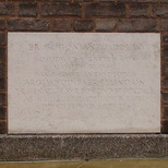 Foundation stone of the Jewin Welsh Church