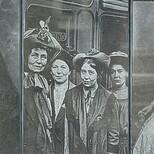 Fawcett frieze - 17, Pankhurst x 4