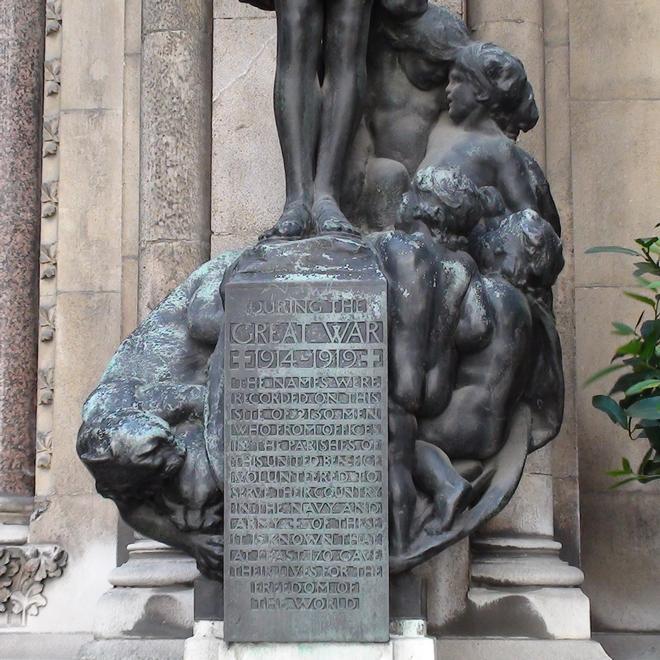 St Michael Cornhill Ww1 Memorial London Remembers